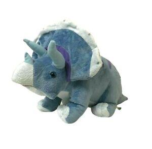 Wild Republic Blue Triceratops Dinosaur Dinomites Soft Plush Toy 2013