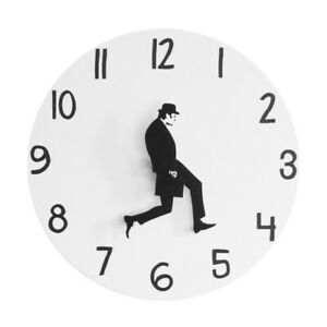 Walk Decorations Monty Python Wall Clock Home Office Funny Analog Silent Silly