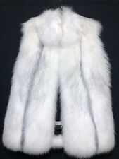 NEW Yves Salomon White Fox Fur Vest Coat
