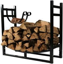 "Firewood Rack 33""X30"" With Kindling Holder Indoor Or Outdoor Fireplace Log Racks"