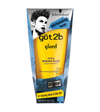 Schwarzkopf Got2b Glued Spiking Glue Water Resistant Screaming Hold 170G(Yellow)