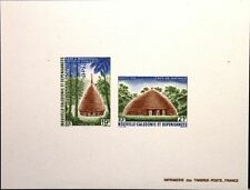 NEW CALEDONIA NEUKALEDONIEN 1988 823-24 DELUXE Traditional Houses Architecture 2