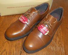 Sz 6 Men's Brown Dexter Comfort Dress Shoes Archer Captoe Lace Tie mem. foam
