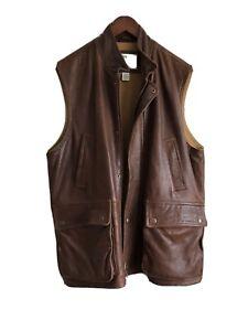 Orvis Sleeveless Leather Jacket/gilet