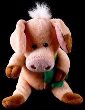 Sunkid Lorsch Germany IRISH 4 Leaf Clover PIG Plush wearing a Shamrock Bandanna