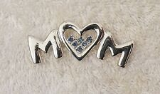 Classic Pin Brooch Mother Mom Love Heart Grand Aunt Sister Family Silver Ton X1