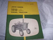 Original John Deere 1010 Single Row-Crop Diesel Tractor Operator's Manual
