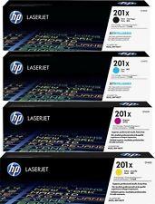 4 ORIGINAL TONER HP 201X Color LaserJet Pro M252dw M252n MFP  M274n M277dw M277n