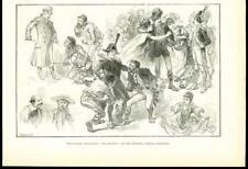 1878 Antique Print - LONDON CHELSEA BARRACK THEATRE FRA DIAVOLO BURLESQUE (221B)