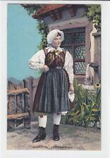 AK Gailtal, Frau in Tracht, 1911