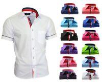 Hemd Herrenhemd ohne und mit Brusttasche Kurzarm Shirt Binder de Lux 840 833