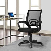Ergonomic Mid Back Office Chair w/ Adjustable Height Desk Computer Task Chair
