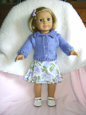 Doll clothes/ HANDMADE / VIOLET Skirt/Sweater Set/Fits American Girl Doll