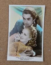 Norma Shearer & Tyrone Power art photo  Real Photograph Postcard xc2