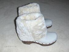 FRYE Super Cute beige leather mid calf boots with sheepskin lining/trim   S 8.5B