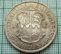 SOUTH AFRICA SUID AFRIKA GEORGE VI 1942 2 SHILLINGS, SILVER
