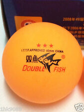 2 Boxes (6 Pcs) Double Fish 3 Stars 40MM Olympic Games Orange Ping Pong Balls