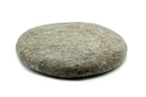 Light Gray Chair Pad - Handmade Round Cushion -Wool Chair Pad- 35CM - From Nepal