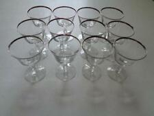 Lot Of 11Sheffield by Fostoria Clear Platinum Champagne Tall Sherbet Glasses