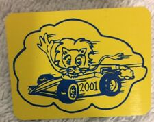 Lions Club - Lion In A Racecar - 2001 - Badge