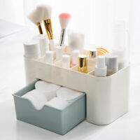 Stackable Cosmetic Storage with Drawer Vanity Table Bathroom Office Organizer HL