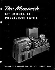Monarch 13'' Model EE Precision Lathe 1953 Catalog - Reprint