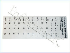 White French Stickers Keyboard Autocollants Etiquette Blanc Clavier Francais