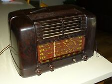 VINTAGE KRIESLER  40 CM VALVE RADIO * BROWN BAKELITE * MODEL NO. 11-28 * 1940'S