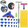34 PDR Paintless Dent Removal Slide Hammer T Bar Puller Glue Gun Hail Repair Kit