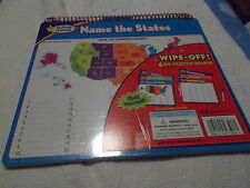 Write-On Wipe-Off Learning Board states capitals multiplication division New