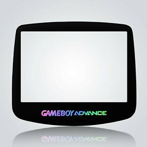 Game Boy Advance IPS Screen Lens Black Holographic Glass Tempered Nintendo GBA