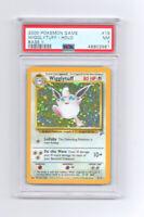 2000 Pokemon Base Set 2 (Base II) PSA 7 Near MINT HOLO Wigglytuff #19