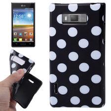 TPU Case für LG P700 Optimus L7 in schwarz mit weißen Punkten Hülle Schutzcase