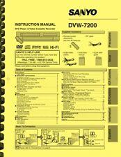 Sanyo DVW-7200 DVD Player Video Cassette Recorder OWNER'S USER MANUAL