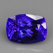 VVS 9.2CT 100% Natural Unheated AAAAA Violet Blue Tanzanite D'Block QTEg35