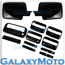 04-08 Ford F150 Black Mirror+4 Door Handle+no keypad+keyhole+Tailgate Cover kit