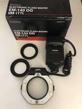 Sigma Em-140 Dg Na-iTtl Electronic Flash Macro with Adapters