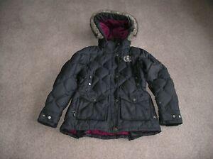 Ladies Innsbruck Ariat Down Parka Jacket Coat Coal grey Size Small CHECK PHOTOS!