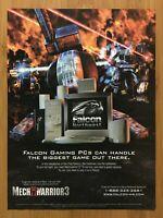 MechWarrior 3 PC 1999 Vintage Print Ad/Poster Official Falcon Northwest Art Rare