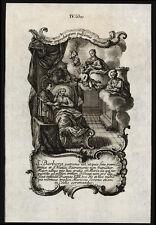 santino incisione 1700 S.BARBARA V.M. klauber