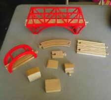 Thomas the Train Wooden Train Lot 2 Red Bridges Fit Thomas Brio & Imaginarium