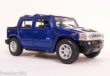 BLUE 2005 HUMMER H2 SUT Car TRUCK SUV Vehicle Diecast Model 1/40 Pull Back 4X4