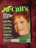 McCALLS Magazine February 1978 Carol Burnett Jack Benny Gloria Goldreich