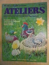 """DE FIL EN AIGUILLE ATELIERS  n° 79 Le papier maché. L'art du """"CHAMPLEVE"""""""