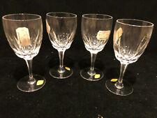 "4 Vintage Josair Crystal Wine Glasses 5 ¾"", Germany, Signed, NWT"