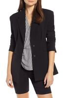 Something Navy 163762 Women's Black Waist Emphasis Blazer Size Extra Small