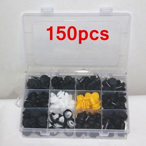 150x Car Accessories Body Plastic Push Pin Rivet Fasteners Moulding Trim Clip