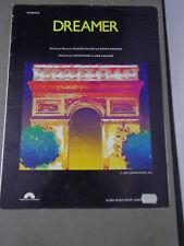 *  -DREAMER --SUPERTRAMP--1980--'SHEET MUSIC-Original vintage