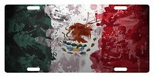 MEXICO FLAG Custom License Plate Mexican Emblem Paint Version # 08