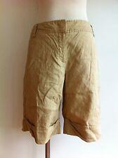 Theory Casual Shorts Tan/Caramel Linen Blend Size 4